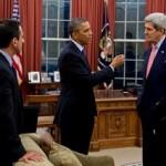 اجتماع أوباما مع مساعديه رايس، كيري وغوردون قبل لقاء الملك محمد السادس