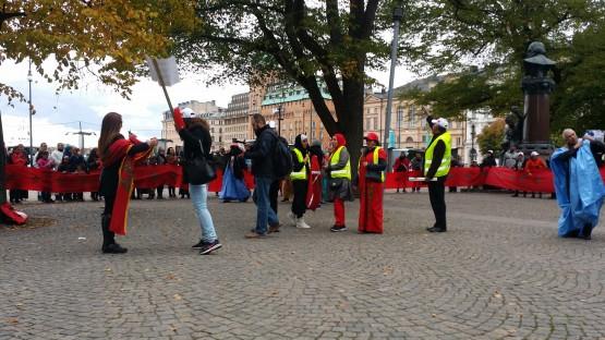 صورة لتظاهرة الجالية المغربية في استوكهولم/arabnyheter